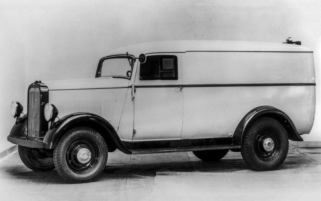Opel Blitz Eintonner Kastenwagen mit Zweiliter-Reihensechszylinder, 1934/35